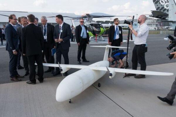 3D-gedrucktes Flugzeug Thor auf Ila 2016