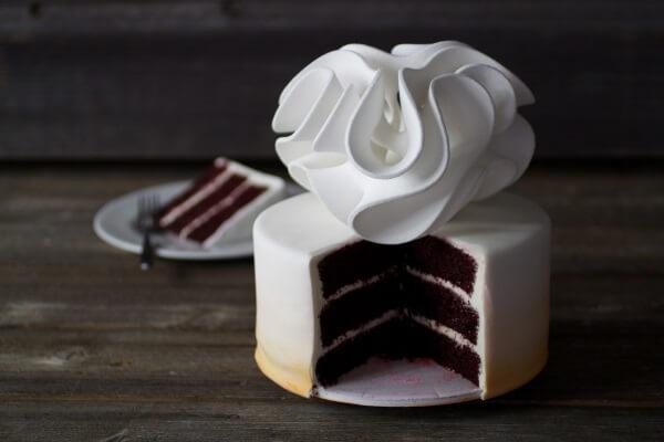 3D-gedrucktes Dekoelement auf Kuchen