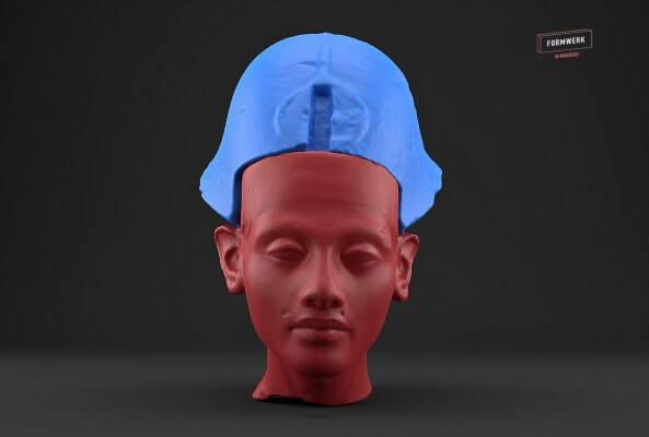 Renderbild des Pharaos Echnaton