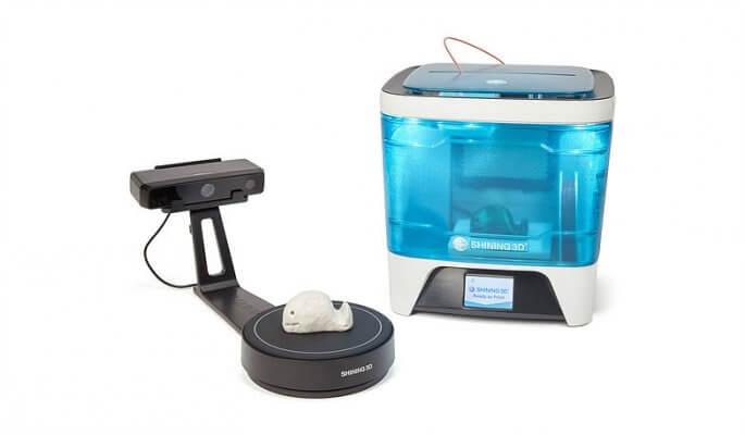 Shining 3D Einstart-C 3D-Drucker und EinScan 3D-Scanner
