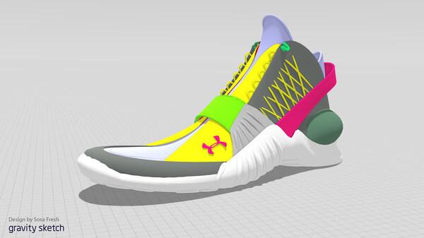 VR-Modell eines Schuhs