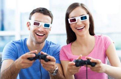 3D-Spiel mit 3D-Brille