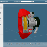 Mit CATIA Software entwickeltes Bauteil