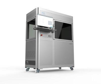 Seitliche Ansicht des Dragon Fly 2020 Pro 3D-Druckers.
