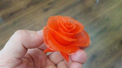 Mit CPWC-DLP-Technologie gedruckte Rose.