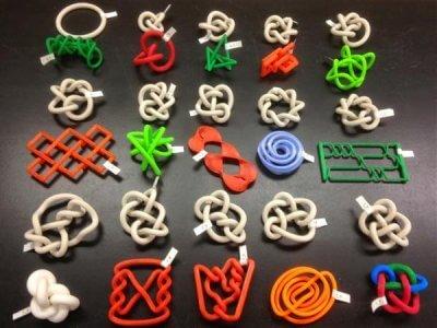 3D-gedruckte mathematische Strukturen.