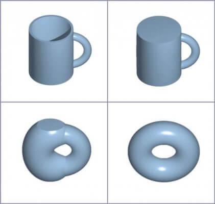 Topologische Struktur aus 3D-Drucker