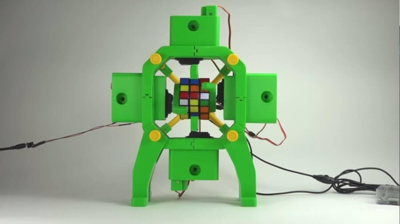 roboter aus dem 3d drucker l st zauberw rfel video. Black Bedroom Furniture Sets. Home Design Ideas