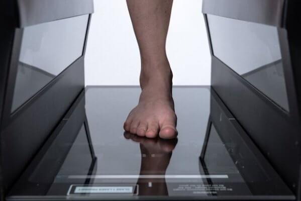 3D-Scan eines Fußes