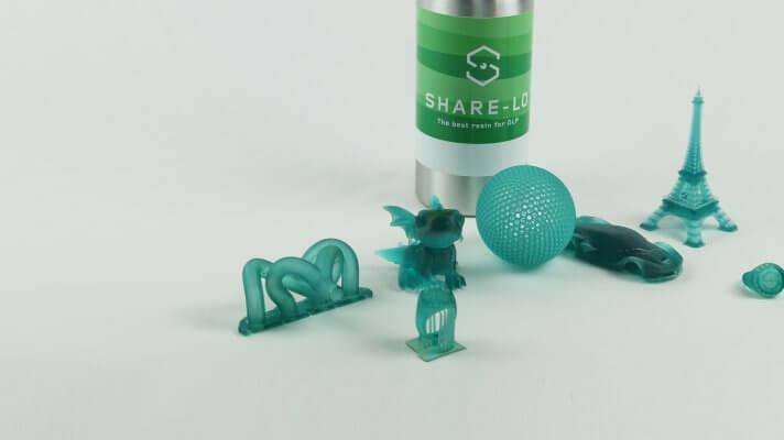 Mit Sharebot Spirit gefertigte Teile.