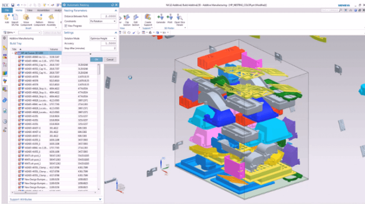Screenshot der Siemens NX-Software