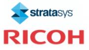 Stratasys und Ricoh Logo