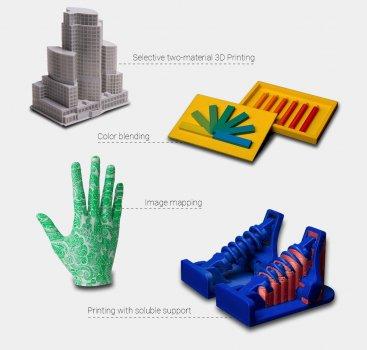 Mit Zmorph VX 3D-gedruckte Objekte