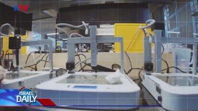 3D-Drucker druckt Mahlzeit