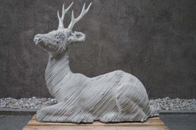 3D-gedruckter Beton Hirsch.