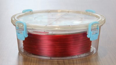 PrintDry Filamentcontainer mit rotem Filament