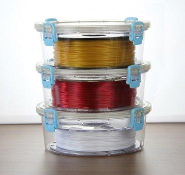 Die Filamentcontainer sind stapelbar.
