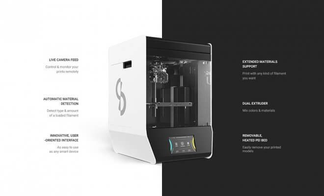 Features zum Skriware 2 3D-Drucker.