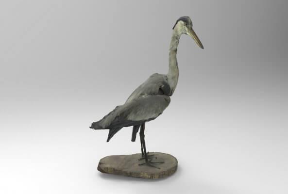 3D-gedruckte Replik eines Vogels.
