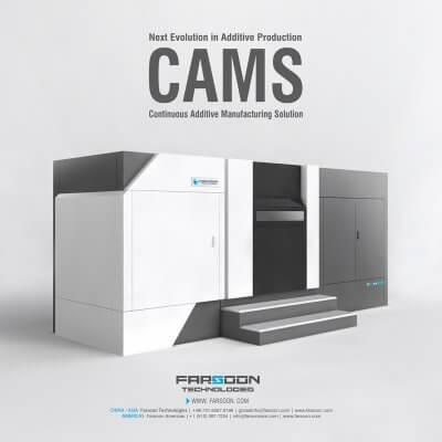CAMS Konzept und Farsoon Technologies 3D-Drucker-Modell