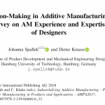Decision-Making in Additive Manufacturing – Survey on AM Experience and Expertise of Designers