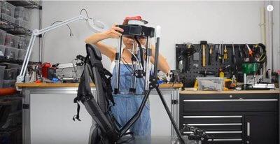 Fertigung des 3D-Drucker-Rucksackes.
