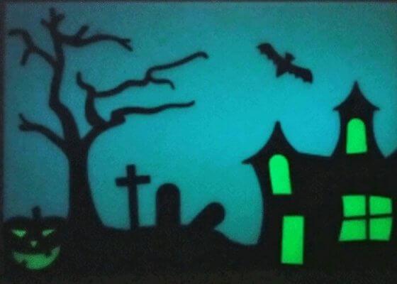 Halloween-Fensterbild aus 3D-Drucker