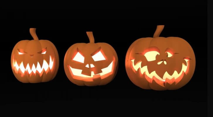 Halloween-Kürbis aus dem 3D-Drucker