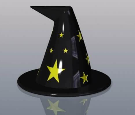 Hexenhut aus dem 3D-Drucker