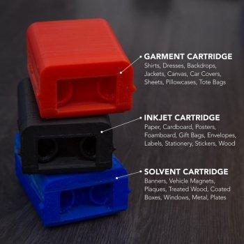 Drei verschiedene Patronentypen für SPoE Drucker.