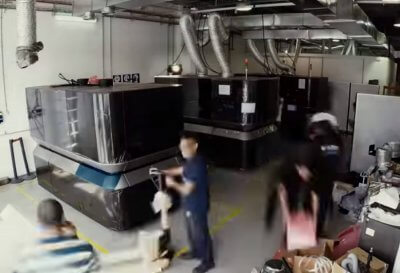 3D-Drucker Carmel 1400 beim Aufbau
