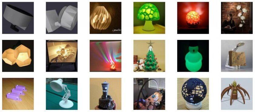 3D-Druckvorlagen für Lampen