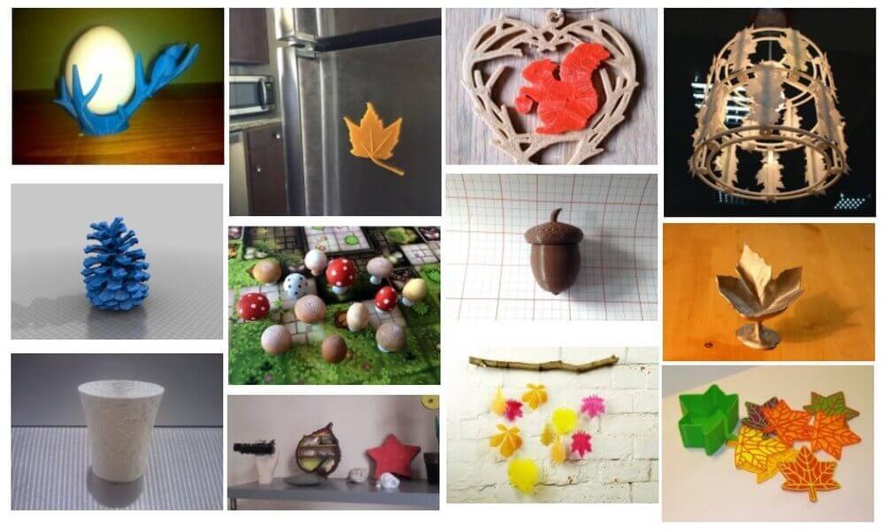 3D-Druckvorlagen für Herbstdeko