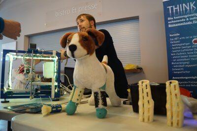 VET orthi Stützsystem von Think3DDD auf der Maker Faire im Norden.