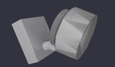 Deckenstrahler als 3D-Druckvorlage