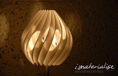 Designer-Lampe aus dem 3D-Drucker