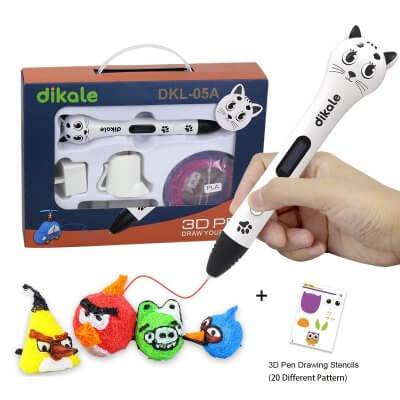 Dikale DKL-05A 3D-Stift mit verschiedenen Figuren.