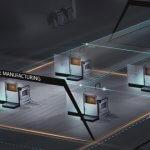 EOS 3D-Drucker in Fabrikraum.