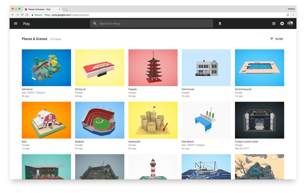 Google bietet mit Google Poly eine neue kostenlose Plattform für 3D-Druck-, VR- und AR-Objekte