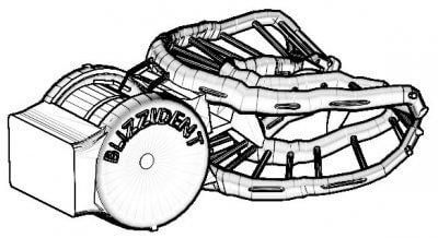 Grafische Darstellung Blizzident 3D-Flosser.