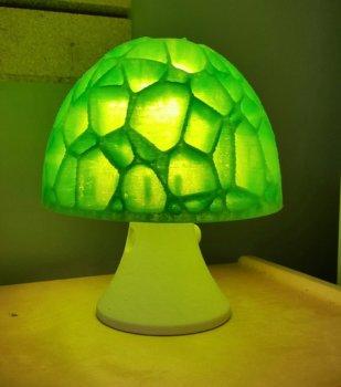 Pilzlampe aus dem 3D-Drucker