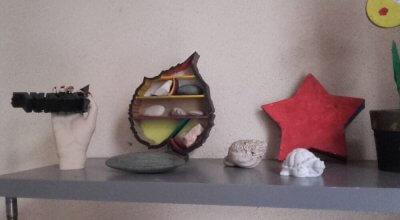 Regal mit Herbstdeko aus dem 3D-Drucker