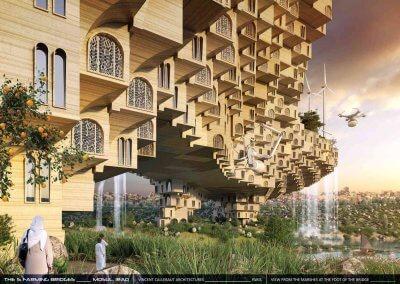 Teilansicht einer geplanten 3D-gedruckten Brücke in Mossul.