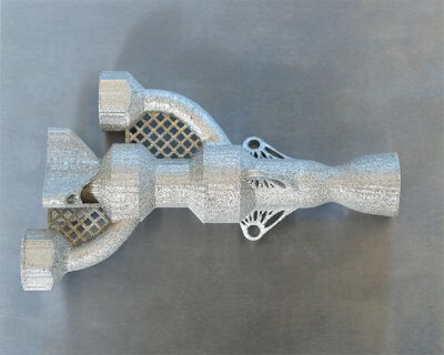 Mit Xact Metal 3D-Drucker XM300 gedrucktes Objekt.