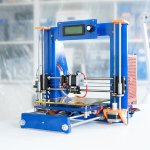 3D-Drucker in blau