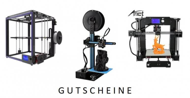 3D-Drucker Gutscheine