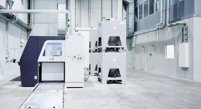 Die Sanitärobjekte werden mit diesen 3D-Druckern hergestellt.