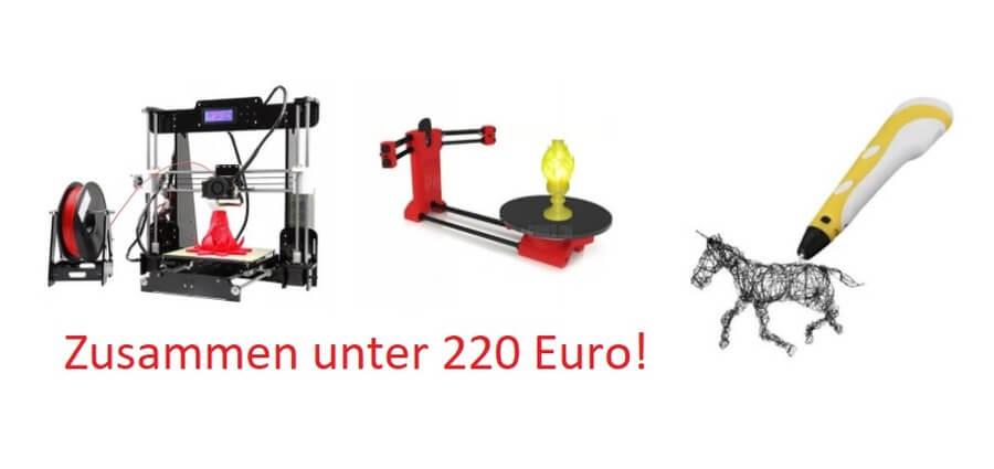 Gearbest bietet 3D-Drucker, 3D-Stift und 3D-Scanner zusammen für unter 220 Euro!