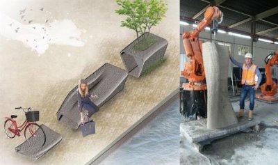 Die 3D-gedruckten Betonobjekte