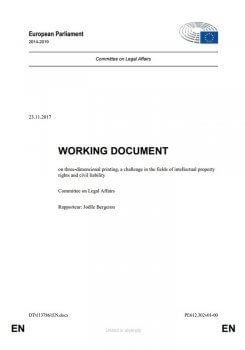 EU-Arbeitsdokument 3D-Druck